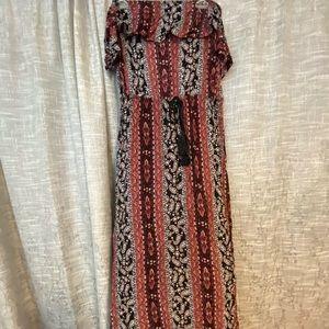 Off shoulder paisley dress